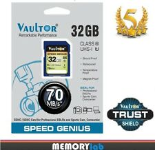 VAULTOR 32GB CLASS 10 ULTRA SPEED SDHC SD SAN STORAGE DISK MEMORY CARD - 70MB/s