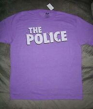 The Police Sting Rock Band Logo Purple T Shirt_Size Large_New with tags_Licensed