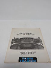 Cycle Sound Honda Interstate Radio Installation Guide 1984 1985 1HIIKP Goldwing