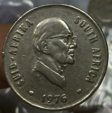 1976 South Africa 20cents  coin