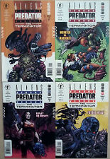 ALIENS VS PREDATOR VS TERMINATOR 1,2,3,4 (1-4)...NM-...2000...VHTF Bargain!