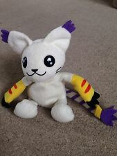 Digimon Adventure Digi-PAL Bandai 1999 Gatomon Beanie Bean Bag Peluche Suave de juguete 6""