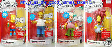 4 Talking ACTION FIGURES The SIMPSONS - Homer / Bart / Krusty / Sideshow Bob