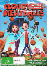 Cloudy With A Chance Of Meatballs DVD Movie BRAND NEW SEALED Anna Faris R4