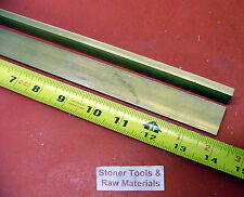 "2 Pieces 1/4"" x 1/2"" C360 BRASS FLAT BAR 14"" long Solid .250"" Mill Stock H02"