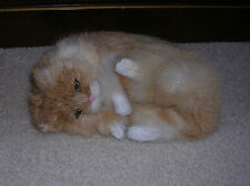 Realistic Lifelike Cat Frolicking Rabbit Fur Furry Animal C357T