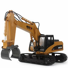 HuiNa Toys RC Tractor 15Channel 2.4G 1/12RC Metal Excavator Charging RC Car gift