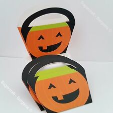 Pack Of 4 HAPPY HALLOWEEN Trick Or Treat Pumpkin Sweet Candy Bags LOOT PARTY.