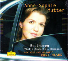 Anne-Sophie MUTTER: BEETHOVEN Violin Concerto Romance No.1 2 Kurt MASUR CD NYP