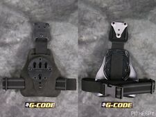 NEW BLACK FUZZ G-CODE MULE ISS DROP LEG HOLSTER CARRY PLATFORM with RTI HANGER