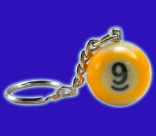 Miniature 9-Ball Keychain - Nine-Ball Pool Ball Keychain