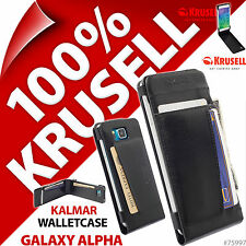 New Krusell Kalmar Walletcase Case For Samsung Galaxy Alpha Cover Bonded Leather