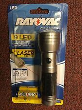 RAYOVAC, 9 LED, FLASHLIGHT, With Laser Pointer, 22 Lumens