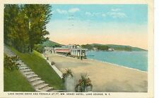 LAKE GEORGE,NEW YORK-LAKE SHORE DR./PERGOLA-FT.WM.HENRY-W/B-PM1925-(LKG-BOX-193)