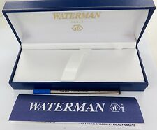 WATERMAN BALL POINT PEN DISPLAY BOX, PROTECTIVE OUTER, BROCHURE & 509 REFILL.