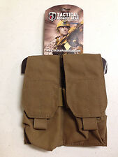 TACTICAL ASSAULT GEAR TAG COYOTE BROWN DOUBLE MAG POUCH 2 PER POUCH HOLDS 4 NEW