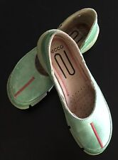 Ecco Green Leather Shoes Flats Euro 36 US 6?