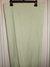 POTTERY BARN KIDS Green White Gingham Cotton Fabric Single Panel Shower Curtain