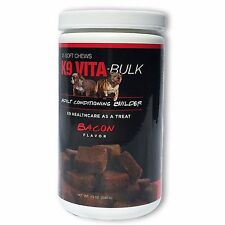 K9 Vita-Bulk Muscle Building dog supplements add girth and muscle with Vita-Bulk