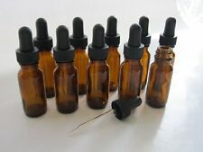 1/2 Oz Amber Glass Bottle with Glass Eye Dropper 15ml - Pack of 10
