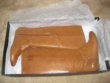 INC International Concepts Boots Size 5.5 M Womens New Rannybrn Luggage Leather