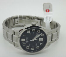 Victorinox Swiss Army Men's 241322 Alliance Black Dial Watch 40mm Stainless NEW