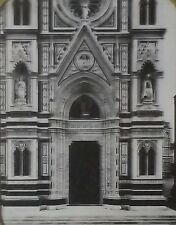 Florence Cathedral Side Door, Italy, Magic Lantern Glass Slide