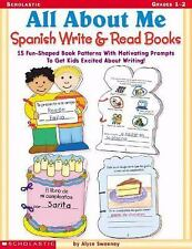 All about Me Spanish Write and Read Books : 15 Fun-Shaped Book Patterns with Mo…
