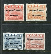 Nauru 31-34 MNH George V Silver Anniversary Issue from 1935 x18481
