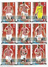 2014 / 2015 EPL Match Attax STOKE CITY Team Set (254-270) 17 Cards