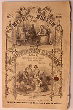 Original 1866 Merry's Museum and Woodworth's Cabinet Magazine