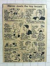 1960 Jim Mercer Cartoon London Junior Wrestling Jack Ingle Alec Wishart