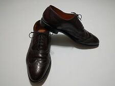 Men's Allen Edmonds Chester Burgundy Wingtip Oxford Shoes 10.5B