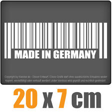 Made in Germany 20 x 7 cm JDM Decal Sticker Aufkleber Racing Die Cut