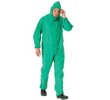 Rainmaster Green Rainsuit Fully Waterproof Overalls Zip Up PVC Suit Size XL