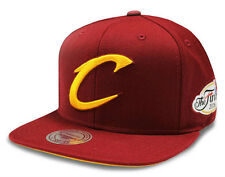 NBA Mitchell & Ness Cleveland Cavaliers Tonal Finals Wine Snapback Cap - New