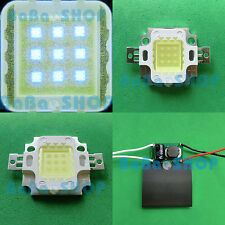 10W Cool Cold White 20000K High Power LED Lamp Spot Light + A/DC 12V-24V Driver