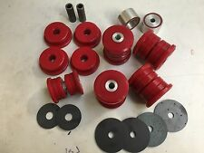BMW E36 M3 EVO REAR SUBFRAME BUSHES & DIFF Mounts -RED Duraflex EXTREME PU