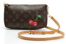 Louis Vuitton Pochette Accessories Cherry Monogram Canvas Bag Limited Edition