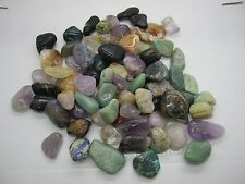 BULK 5 LBS.  ASSORTED NATURAL TUMBLED STONES#17  - 81 PC. LOT - BEST PRICE