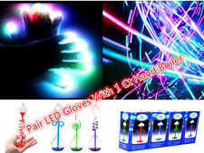 LED 6 Modes Event Light Show LED Gloves With Glass Science Hand Boiler