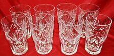 Waterford ASHLING (CUT) 12 Oz Tumblers - Set of 8 - MINT