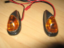 Amber Flush Mounting LED Carbon Indicators Car Bike Trike Trailer 4x4 Horsebox