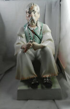 """Zsolnay, Bacon / Wood Carver Man, Hungarian porcelain figurine/statue Large 13"""""""