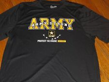 NWT UNDER ARMOUR MENS 2XL US ARMY STRONG PROTECT THIS HOUSE' LOOSE BLK SHIRT
