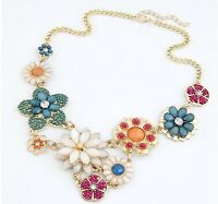 New Statement Necklace Bib Chunky Chain Collar Vintage Party Choker Jewelry
