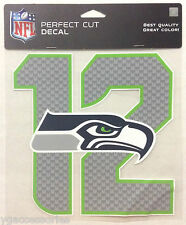 "NFL Seattle Seahawks Wincraft 8""x 8"" Perfect Cut Peel-Off Decal Window Cling NEW"