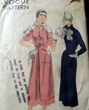 LOVELY VTG 1950s DRESS VOGUE Sewing Pattern 14/32