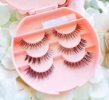 Case Plastic Eyelashes Beauty Storage Box False Comestics Makeup Lovely Bownot
