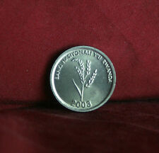 Rwanda 2003 Africa 1 Franc Unc World Coin uncirculated national symbol